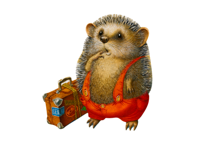 Ежик-путешественник
